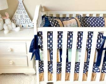 Baby Bedding Set, Aztec Crib Bedding, Boutique Baby Bedding Sets, Baby Boy Bedding, Baby Boy Crib Bedding, Arid Horizons Baby Bedding