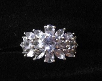 Sterling Silver Pale Purple Gemstone Ring, Size 7.5