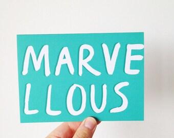 Marvellous - Brush Lettering Type Card