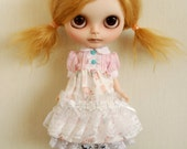 Outfit for blythe ,momoko , pullip doll : sweet dress set