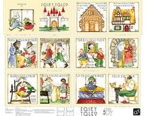 Quilting Treasures Fabric FAIRY TALES Fabric Book Classic Storybooks- panels