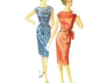 1960s Sheath Dress Pattern Simplicity 3504 B32 Sz 12