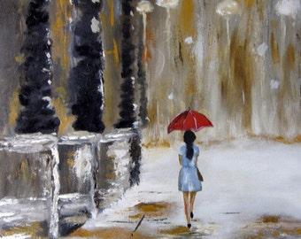 Red Umbrella - Wall Art Print