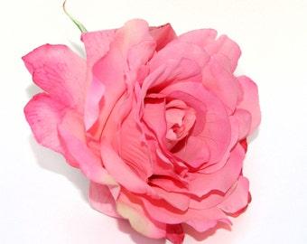Pink Georgia Rose - Artificial Flowers, Silk Flower Heads - PRE-ORDER