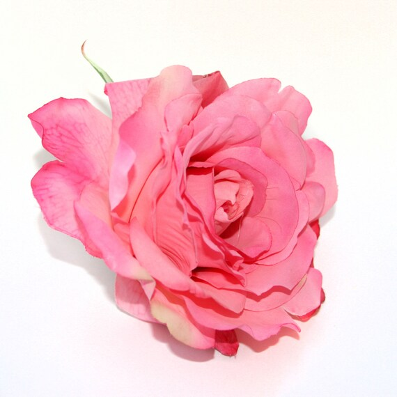Pink Georgia Rose Artificial Flowers Silk Flower Heads