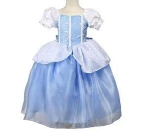 New cinderella Inspired Costume Birthday girl toddler princess dress size   6 8