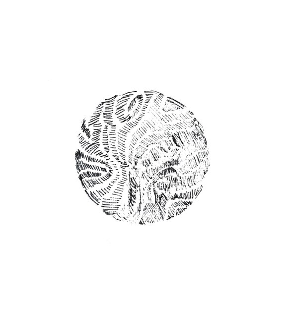 minimalist ink print: Planet IV