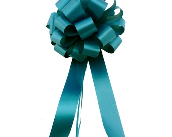 6 Teal Pull Bows Wedding Pew Chair Gift  Decorations