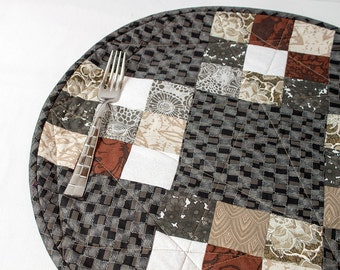Handmade Contemporary Quilted Placemats