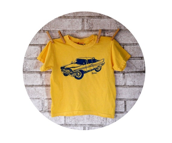 Childrens Classic Car Tshirt, Plymouth Fury Tee shirt, Yellow or Custom Color,  Youth T Shirt, Graphic Tee Youth Clothing Unisex Toddler Boy