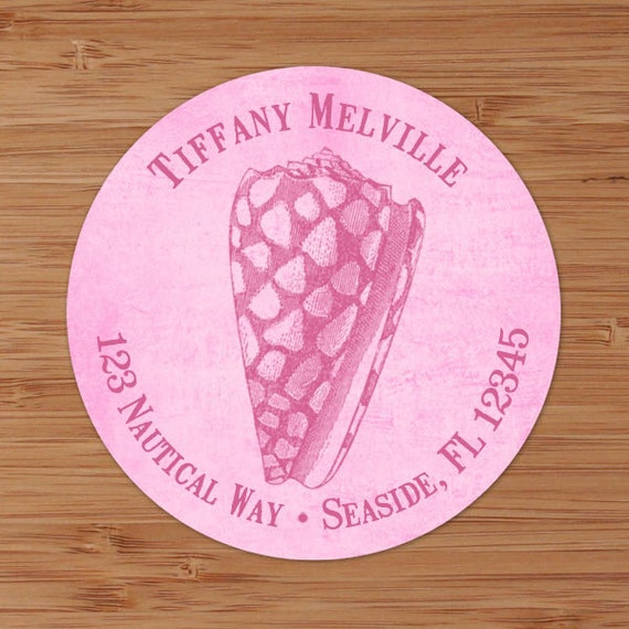 Seaside Collection (Cone Shell) Custom Address Labels or Stickers