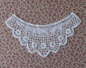 1840s 1850s Whitework Single Antique Victorian Cuff - for study