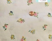 Full Vintage Fitted Sheet with Small Pastel Flowers