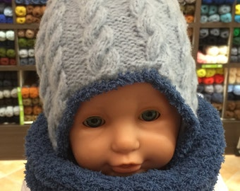 Bonnet baby cables (Peruvian Style)