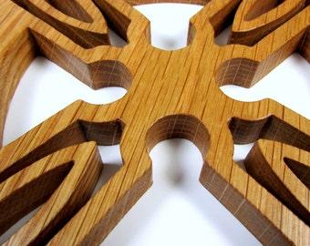 Cross / Celtic Style / Wall Decor / White Oak Wood
