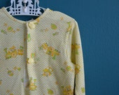 Vintage Layette Gown with Yellow and Green Toy Print by Carter's - 2 Available