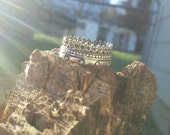Sterling Silver Crown Ring Sz 7.5