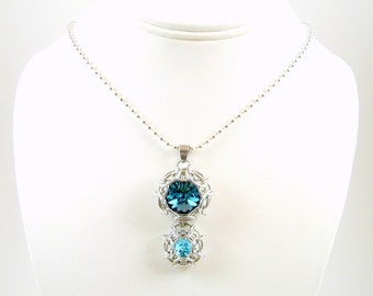 Double Phaedra© Swarovski Crystal Pendant -  - You Choose the Colors