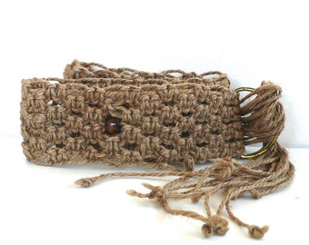 Vintage Macrame and Beads Knot Belt