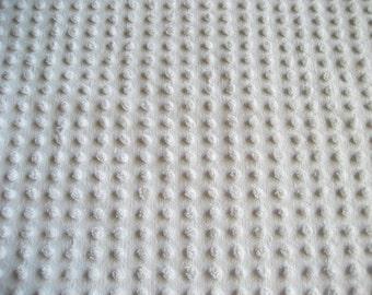 "Bates Mist Gray / Grey Fluffy Pops Vintage Chenille Bedspread Fabric 18"" x 24"""
