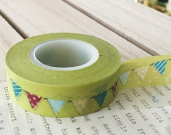 Green Colorful Party banner washi tape