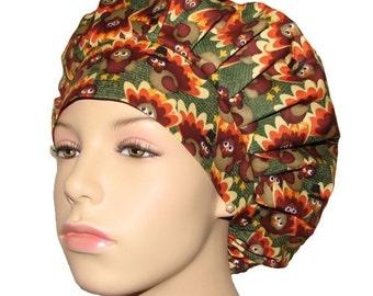 Thanksgiving Packed Turkeys-Scrub Hats-Scrub Caps-ScrubHeads-Holiday Scrub Hat-Surgical Caps-Surgical Hats-Scrub Hats for Women-Thanksgiving