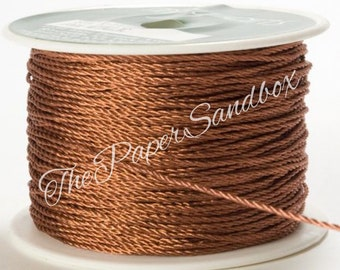 Copper Cord/Rose Gold Cord, Twine, 1mm wide, Metallic Twine, Wedding, Invitation, Gift Wrapping, Christmas, Party Supplies, Jewelry Supplies