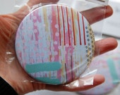 Abstract Spots and Stripes Pocket Mirror.