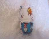 Dr Seuss Cat in Hat Inspired 10oz Baby Bottle Cover Holder Cozie Cozy Baby Shower Gift Baby Gift For Baby