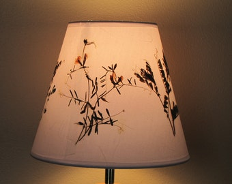 Flower lamp shade etsy lamp shade pressed flower art pressed flower artwork lampshade made with real dried flowers mozeypictures Gallery