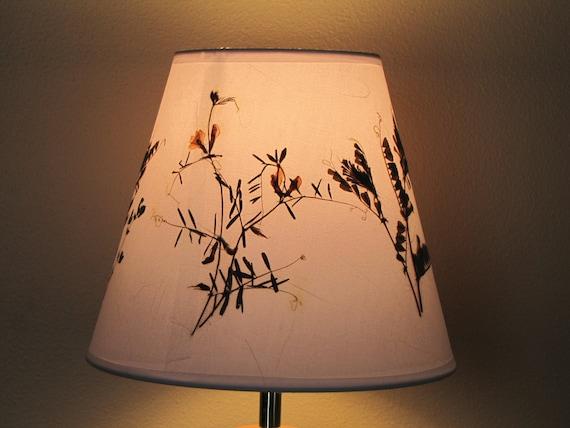 Flower Lamp Shade : Lamp shade pressed flower art artwork