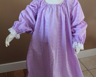 Girls Lilac Chemise Cotton Childs Fairy Tale Dress Tudor Renaissance Medieval Costume Gown