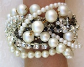 Chunky Pearl Bridal Bracelet, Custom Bridal Jewelry, Custom Wedding Jewelry, Custom Bridal Bracelet, Custom Wedding Bracelet for Bride