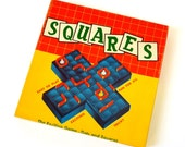 Schaper Vintage 1950s The Game of Squares NOS / Complete the Most Squares by Successfully Placing A Fence on the Board / All Ages