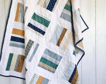Doe Modern Patchwork Quilt, Baby Quilt, Toddler Quilt, Lap Quilt, Kid Quilt