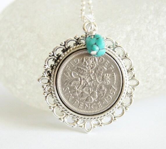 december birthday necklace birthstone necklace turquoise. Black Bedroom Furniture Sets. Home Design Ideas