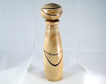Handmade Pepper Mill Salt Grinder Spice Mill Hickory Wood Ceramic Crushgrind mechanism
