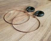 Vintage Copper Dangle Bangle Hoop Gauges