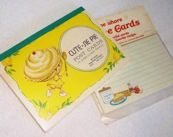 2 new packs of Vintage Recipe Cards and PostCards • Cape Shore & Cute-sie Pie