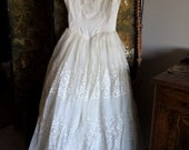 Vintage 1950's Wedding Dress - SALE