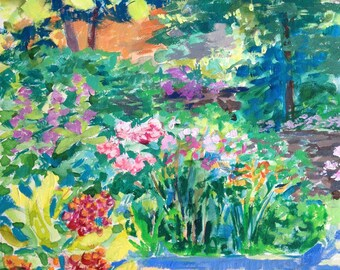 Shakespeare's Head Garden Painting 8x8