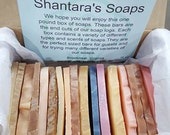 Soap Samples, Soap Sampler Box, 1 Pound of Soap Ends, Travel Soaps, Soap Gift Box, Wedding Gift Soap, Soap Set, Guest Soap Set