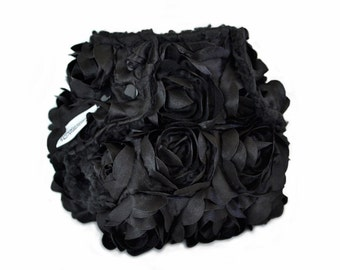 Diaper Cover OS - Fancy Black Rose Floral, Baby Photo Prop, Reusable Cloth Diaper Cover