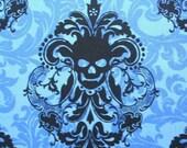 Goth Damask Royal Blue Skull Michael Miller Cotton Fabric Yard