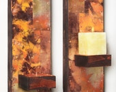 Two Metal and Copper Wall Sconces