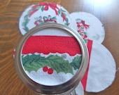 Holiday Material Circles for Canning Jars Ball Jars Christmas Crafts