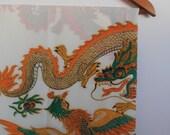 dragons...vintage indonesian block print fabric yardage