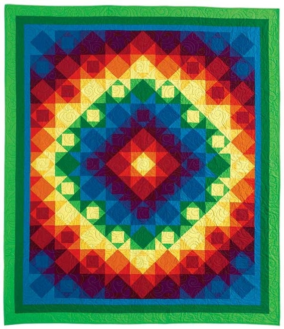 Genesis 9:16 rainbow quilt pattern by beaquilter