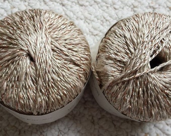 Grifil Artica Specialty Yarn, Shades of wheat with Gold, Two spool