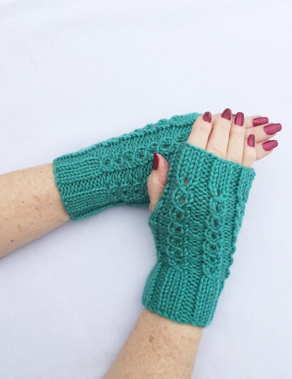 Driving Gloves Knitting Pattern : Items similar to Texting Gloves, Knit Hand Warmers ...